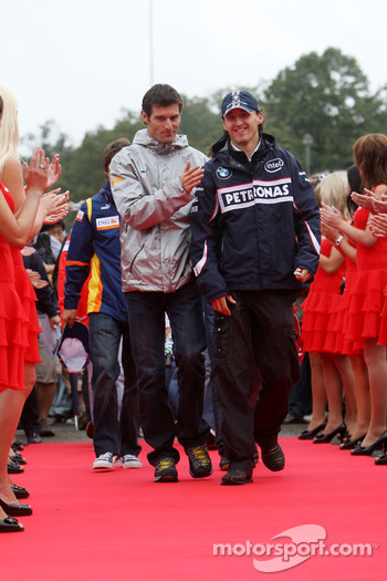 Mark Webber, Red Bull Racing, Robert Kubica,  BMW Sauber F1 Team