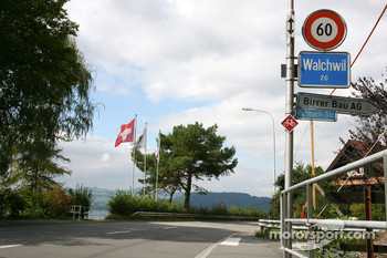 Sebastian Vettel's home town visit in Walchwil, Switzerland