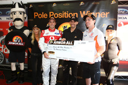 Jamie Whincup wins race two and takes pole with co driver Craig Lowndes for the LandH 500 (TeamVodafone Ford Falcon BF)