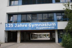 Sebastian Vettel's home town visit in Heppenheim, Germany: the Starkenburg Gymnasium of Sebastian Vettel