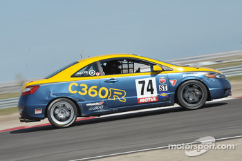 #74 Compass360 Racing Honda Civic SI: Christian Miller, Karl Thomson