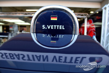 Pit equipment of Sebastian Vettel