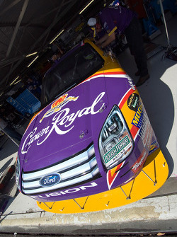 The Crown Royal Ford sits in the garage area