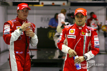 Pole winner Felipe Massa and third place Kimi Raikkonen