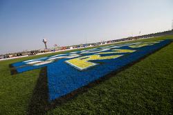 Kansas Speedway trioval grass