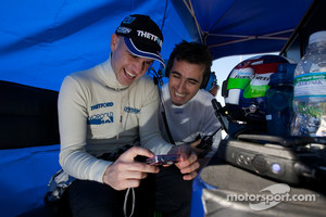 Marino Franchitti and Dario Franchitti share a laugh