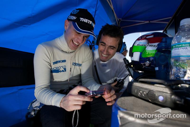 Marino Franchitti and Dario Franchitti share a laugh
