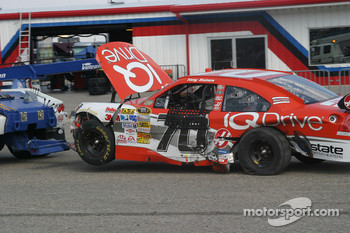 Wrecked car of Tony Raines