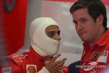 Felipe Massa, Scuderia Ferrari and Rob Smedly,, Scuderia Ferrari, Track Engineer of Felipe Massa