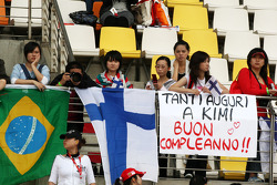 Banners of support for Kimi Raikkonen, Scuderia Ferrari