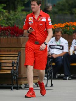 Rob Smedly, Scuderia Ferrari, Track Engineer of Felipe Massa