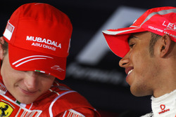 FIA press conference: pole winner Lewis Hamilton, second place Kimi Raikkonen
