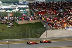 Felipe Massa, Scuderia Ferrari passes Kimi Raikkonen, Scuderia Ferrari