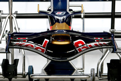 A Scuderia Toro Rosso nose cone and front wing of an STR3