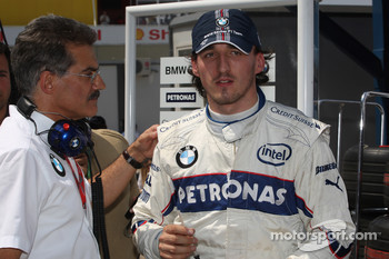 Dr. Mario Theissen, BMW Sauber F1 Team, BMW Motorsport Director and Robert Kubica,  BMW Sauber F1 Team