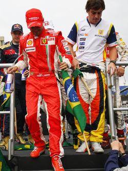 Felipe Massa, Scuderia Ferrari and Fernando Alonso, Renault F1 Team