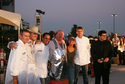 Bobby Labonte, Tim Love, Juan Pablo Montoya, Mario Batali, Rachel Ray and Carl Edwards