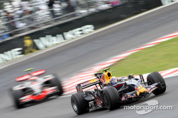 Mark Webber and Heikki Kovalainen