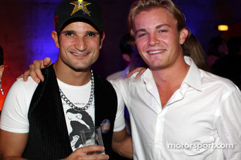 End of season party, Memorial da America Latina: test driver Vitantonio Liuzzi and Nico Rosberg