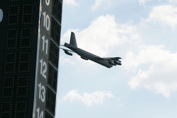 Pre-race flyover by a B-52 Bomber