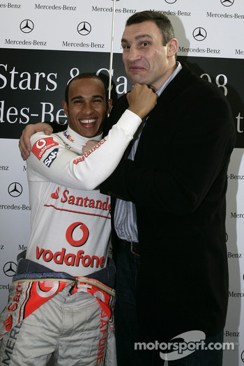 Two World Champions: Lewis Hamilton (Formula 1) and Vitali Klitschko (boxing)