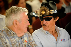 Former rivals Bobby Allison and Richard Petty chat during the 2008 Championship Contenders Press Conference