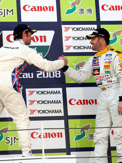Podium: second place Yvan Muller and third place Andy Priaulx