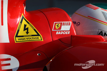 Luca Badoer, Test Driver, Scuderia Ferrari, sticker for KERS