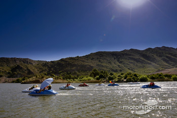 Fun in the sun on Lago Potrero de los Funes