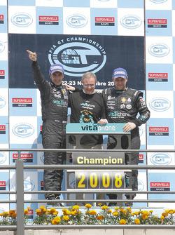 Drivers championship podium: GT1 champions Andrea Bertolini and Michael Bartels
