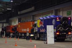 Trucks goes through scrutineering