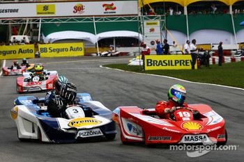 Felipe Massa, Scuderia Ferrari and Antonio Pizzonia