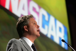 NASCAR Chairman and CEO Brian France addresses the 2008 NASCAR NMPA Myers Brothers Media Luncheon at Cipriani