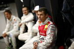 Tom Kristensen in the drivers' briefing with Andy Priaulx and Jenson Button