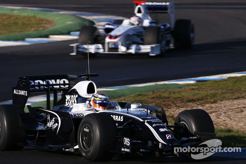 Nico Hulkenberg, Test Driver, WilliamsF1 Team, Christian Klien, Test Driver, BMW Sauber F1 Team