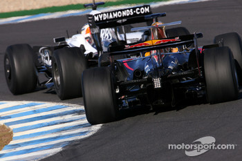 Nico Hulkenberg, Test Driver, WilliamsF1 Team, Sebastien Buemi, Test Driver, Red Bull Racing