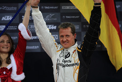 Podium: Nations Cup winner Michael Schumacher celebrates
