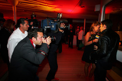 Vitantonio Liuzzi Force India F1 Third Driver and Tamara Ecclestone Sky TV Presenter at the Fly Kingfisher Boat Party