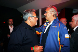 Dr Vijay Mallya Force India F1 Team Owner with Flavio Briatore Renault F1 Managing Director at the Fly Kingfisher Boat Party
