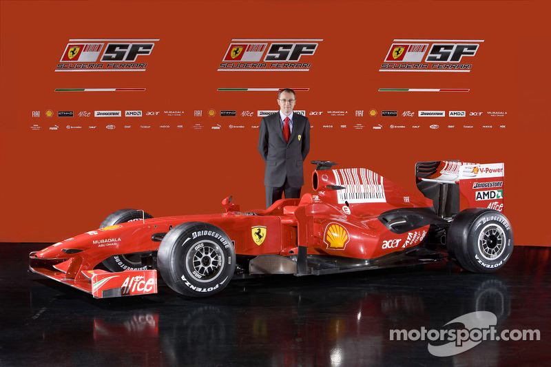 Team director Stefano Domenicali with the new Ferrari F60