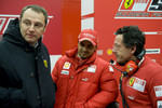 Stefano Domenicali, Felipe Massa and Luca Baldisserri
