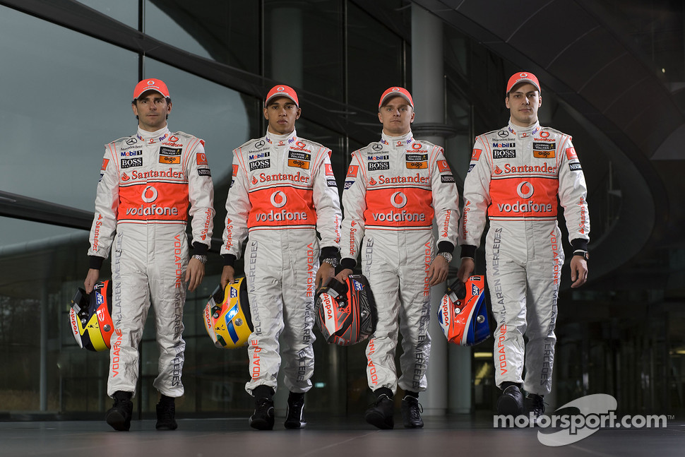 Pedro de la Rosa, Lewis Hamilton, Heikki Kovalainen and Gary Paffett