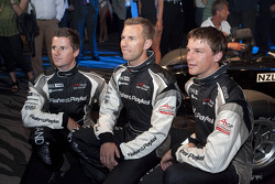 A1 Team New Zealand drivers Jonny Reid, Chris van der Drift and Earl Bamber