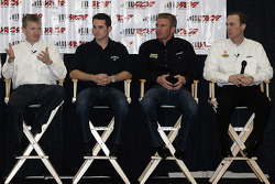 NASCAR Sprint Cup Series drivers Jeff Burton, Casey Mears, Clint Bowyer and Kevin Harvick meet the media