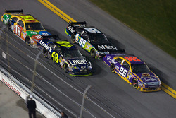 Jamie McMurray, Roush Fenway Racing Ford, Jimmie Johnson, Hendrick Motorsports Chevrolet, Carl Edwards, Roush Fenway Racing Ford, Kyle Busch, Joe Gibbs Racing Toyota