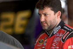 Tony Stewart, Stewart-Haas Racing Chevrolet, deep in thoughts after his crash with teammate Ryan Newman, Stewart-Haas Racing Chevrolet