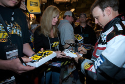 Champion's breakfast: 2009 Daytona 500 winner Matt Kenseth, Roush Fenway Racing Ford, signs autographs for fans