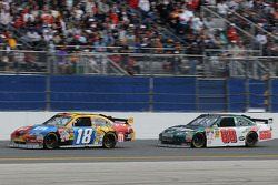 Kyle Busch, Joe Gibbs Racing Toyota, and Dale Earnhardt Jr., Hendrick Motorsports Chevrolet
