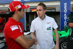 Felipe Massa with Adam Carroll, driver of A1 Team Ireland