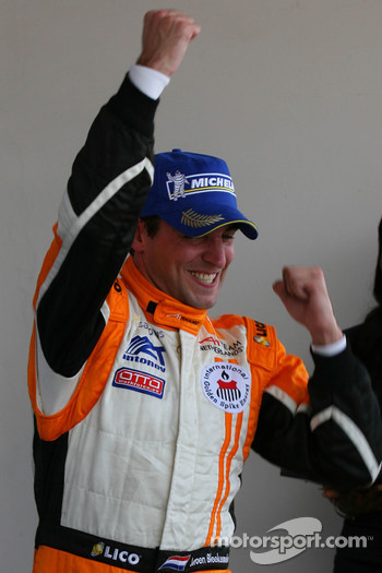 Podium: race winner Jeroen Bleekemolen